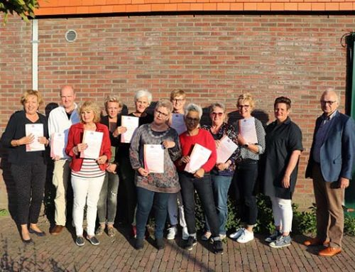 Negen nieuwe vrijwilligers  opgeleid voor hospice De Cirkel