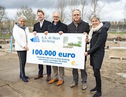 A.A. de Haan Stichting doneert 100.000 euro