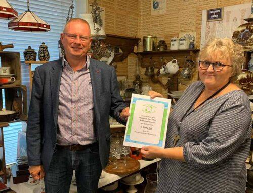 Kringloopwinkel Sliedrecht doneert € 1.000